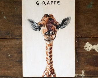 Small Baby Giraffe Portrait