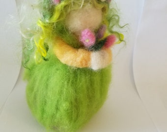 Needle Felted Sweet Spring Maiden