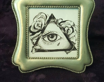 All Seeing Eye and Silver Frame