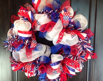 Patriotic wreath, 4th of July, Labor Day