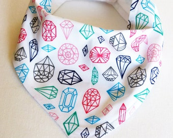 Baby Bandana Bib-Diamonds