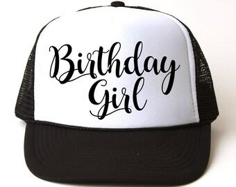 Birthday Girl Hat- Birthday Trucker Hat- Custom Trucker Hat- Birthday Present- Birthday Party- Birthday Girl- Birthday Gift- Trucker Hats