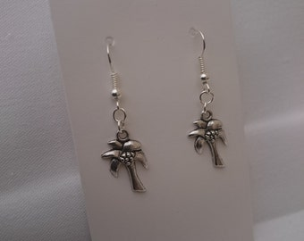 Silver Plated Palm Tree Earrings