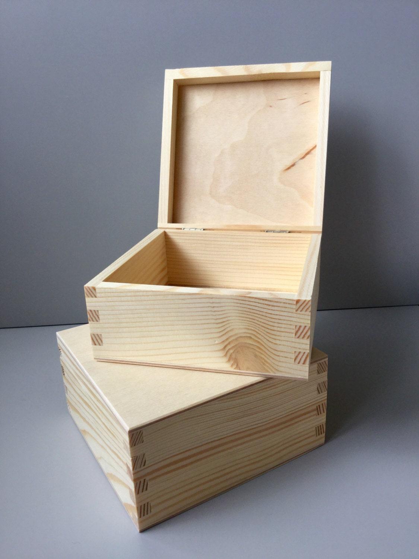 Wooden box, Wooden box with lid, Wood, Jewellery box, Gift box, Jewelry box, Personalized ...