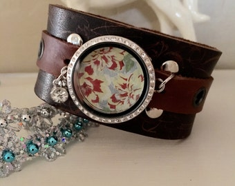 Leather Cuff Bracelet The Holiday