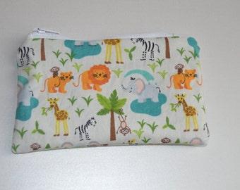 Animal print zipper pouch, purse, wallet
