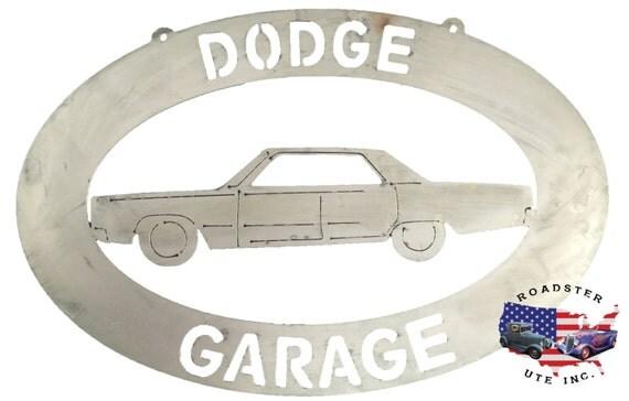 Dodge Garage - Plasma Cut Metal Shop Sign
