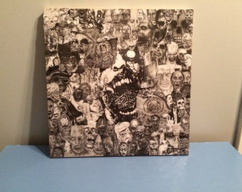Zombie Decoupage Collage Canvas