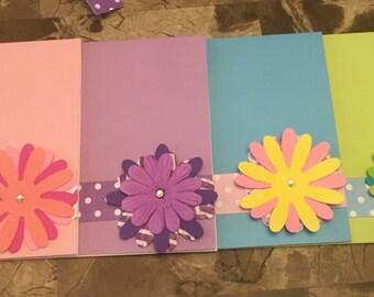Flower Greeting Card Set (5)