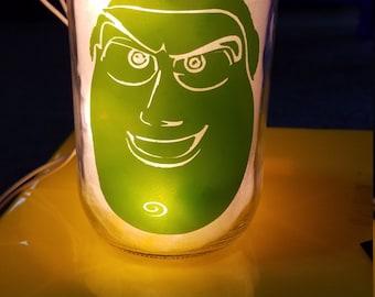 Toy Story Buzz Lightyear Mason Jar Nightlight