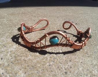 copper bracelet weave