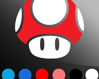 2-Color Mario Mushroom Decal