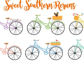 Bicycle Planner Stickers - set of 6 for your Erin Condren, Kikki K, Plum Paper, Oh Sew Crafty, and other paper based planner