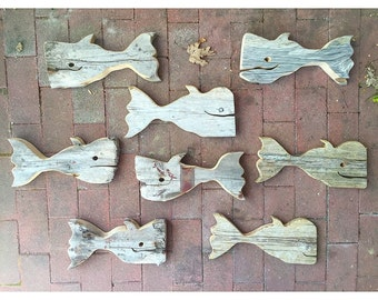 Whimsical Driftwood Whales