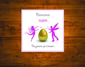 Square birth daughter card