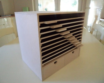 Hand Crafted Mdf Magnetic Die Storage Unit