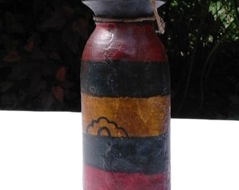 Old Tibetan wooden bottle