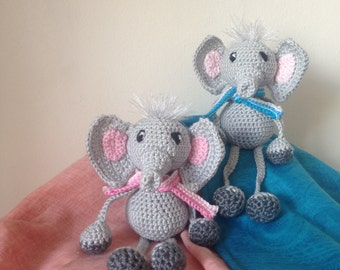 Cute crochet meresa elephants