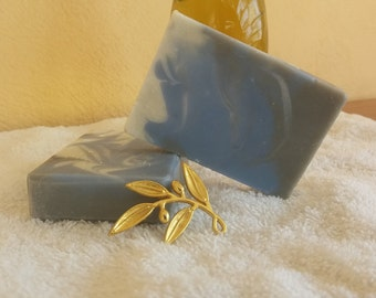 Masculine handmade natural Greek olive oil soap