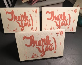 Thank You Notecards; Set of Five