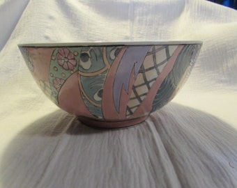 dynasty etched porcelain bowl, hand painted