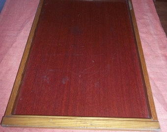 Vintage WOODEN tray and ANT
