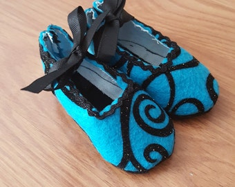 Baby Shoes - Blue jazzy