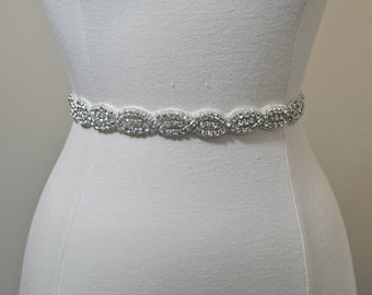 Wedding sash, Rhinestone applique, trim, bridal sash, wedding sash, bridal belt, rhinestone belt