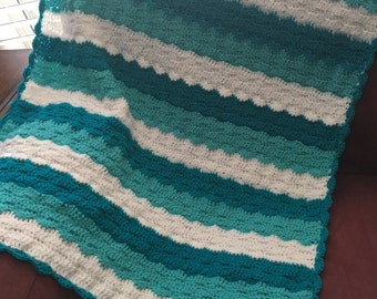 Crocheted Wavey Baby Blanket
