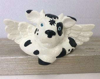 Angel Cow Shelf Sitter