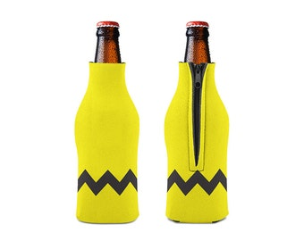 Charlie Brown Zipper Style Beer Bottle Coozies / bottle beverage insulator , Cozies (KB-047)