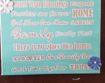 8x10 family quote painting