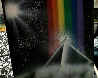 Pink Floyd Dark Side of the Moon Spray Art