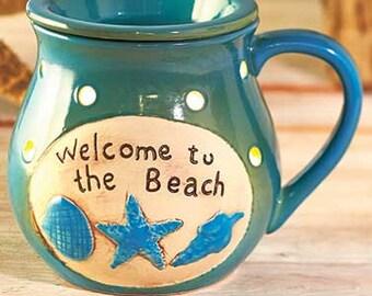 Welcome to the Beach Wax Melt Warmer Tart Burner