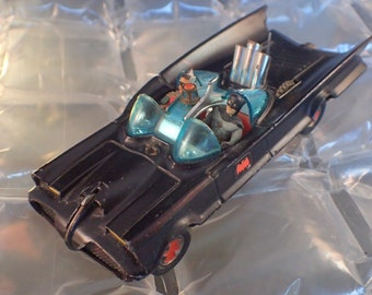 Corgi #267 Original 1967 Batmobile Matte Black Bat Hubs Batman