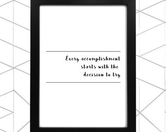 Poster | Motivational Quote