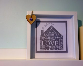 Personalised Family Home Print/Picture/Art/Gift/Wedding/New Home