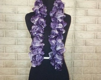 Purple Mix Ruffle Scarf (Item #037)