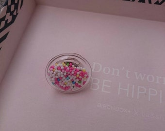 Ring glass & candy multicolor