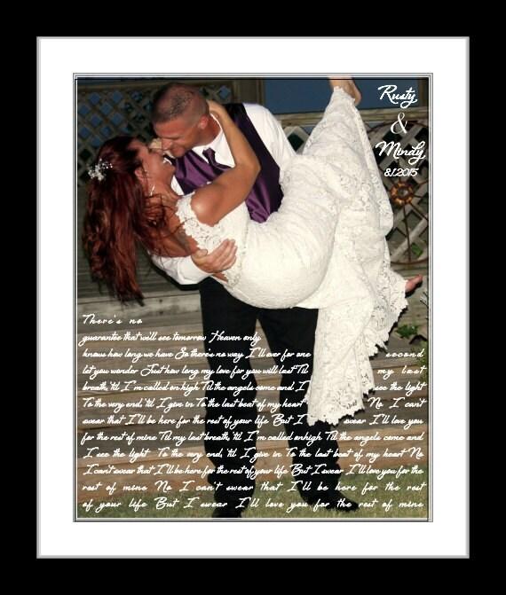 First Dance Lyrics Wedding Gift Anniversary Gift First