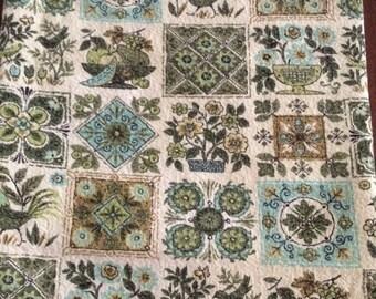 Vintage  Soft Cotton Tablecloth