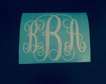 Monogram Decal | Vine Monogram | Yeti Cup Monogram Decal | Laptop Decal | Car Window Sticker |