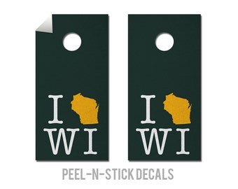 Green Bay - Packers - State Pride - Cornhole Board Decals