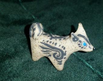 Polymer Clay Totem Talisman Animal Shiba/Akita Dog.