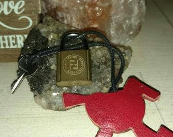 Vintage Fendi purse lock