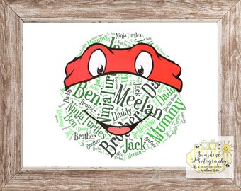 Character Word Art A4