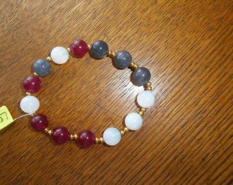 bracelet agate and jade