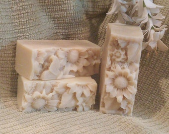 Handmade Goats Milk and Shea butter patchouli soap.