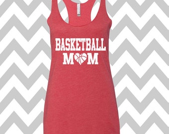 Basketball Mom Tank Top Racerback Tri Blend Tank Basketball Shirt Love Basketball Tank Basketball Mom Shirt Cute Basketball Game Day Tank