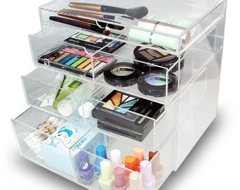 Ikee Design Acrylic Cosmetics Makeup Organizer Storage Box (SKU# COM065 COM065LTBR)